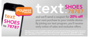 Payless text