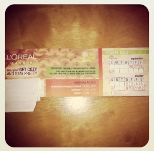 Loreal ticket